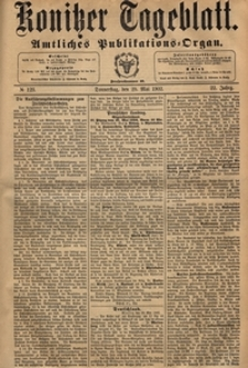 Konitzer Tageblatt.Amtliches Publikations=Organ, nr.122