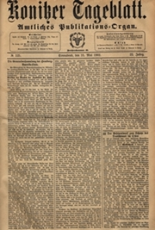 Konitzer Tageblatt.Amtliches Publikations=Organ, nr.125