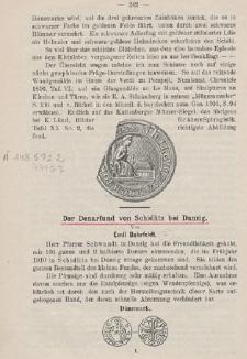 Der Denarfund von Schidlitz bei Danzig