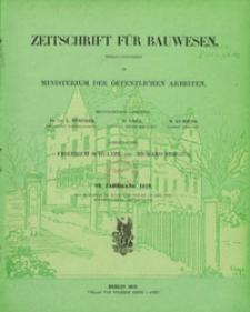 Zeitschrift für Bauwesen, Jg. 69, H. 1-12 (1919)
