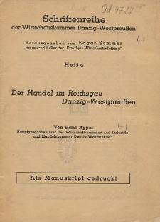 Der Handel im Reichsgau Danzig-Westpreußen