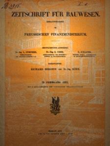 Zeitschrift für Bauwesen, Jg. 71, H. 1-12 (1921)