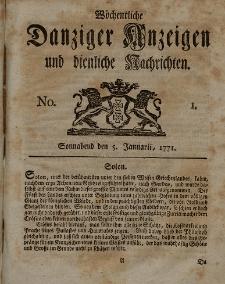 Gemeinnützige Danziger Anzeigen Erfahrungen und Erläuterungen allerley nützlicher Dinge und Seltenheiten 1771