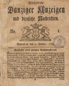Gemeinnützige Danziger Anzeigen Erfahrungen und Erläuterungen allerley nützlicher Dinge und Seltenheiten 1772