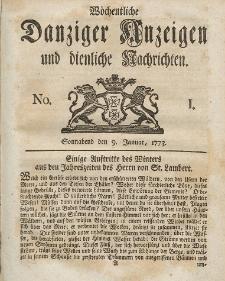 Gemeinnützige Danziger Anzeigen Erfahrungen und Erläuterungen allerley nützlicher Dinge und Seltenheiten 1773