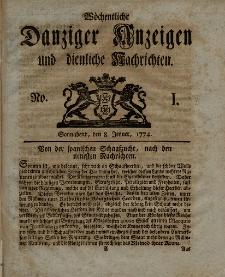 Gemeinnützige Danziger Anzeigen Erfahrungen und Erläuterungen allerley nützlicher Dinge und Seltenheiten 1774