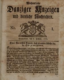 Gemeinnützige Danziger Anzeigen Erfahrungen und Erläuterungen allerley nützlicher Dinge und Seltenheiten 1775