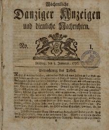 Gemeinnützige Danziger Anzeigen Erfahrungen und Erläuterungen allerley nützlicher Dinge und Seltenheiten 1776