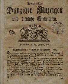 Gemeinnützige Danziger Anzeigen Erfahrungen und Erläuterungen allerley nützlicher Dinge und Seltenheiten 1778