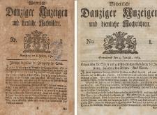 Gemeinnützige Danziger Anzeigen Erfahrungen und Erläuterungen allerley nützlicher Dinge und Seltenheiten 1782-1783