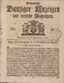 Gemeinnützige Danziger Anzeigen Erfahrungen und Erläuterungen allerley nützlicher Dinge und Seltenheiten 1787