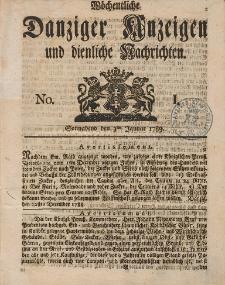 Gemeinnützige Danziger Anzeigen Erfahrungen und Erläuterungen allerley nützlicher Dinge und Seltenheiten 1789