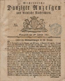 Gemeinnützige Danziger Anzeigen Erfahrungen und Erläuterungen allerley nützlicher Dinge und Seltenheiten 1791