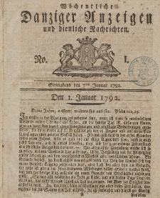 Gemeinnützige Danziger Anzeigen Erfahrungen und Erläuterungen allerley nützlicher Dinge und Seltenheiten 1792
