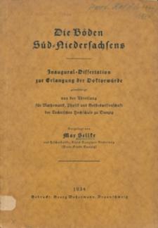Die Böden Süd-Niedersachsen