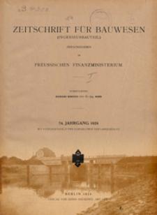 Zeitschrift für Bauwesen, Jg. 74 (1924)