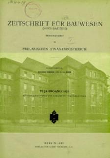 Zeitschrift für Bauwesen, Jg. 75 (1925)