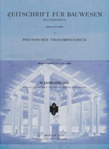 Zeitschrift für Bauwesen, Jg. 76 (1926)