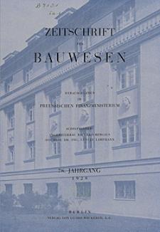 Zeitschrift für Bauwesen, Jg. 78, H. 1-12 (1928)