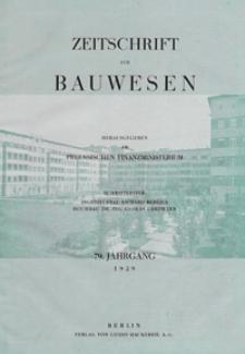 Zeitschrift für Bauwesen, Jg. 79, H. 1-12 (1929)