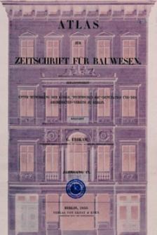 Atlas zur Zeitschrift für Bauwesen, Jg. 9, H. 1-12 (1859)
