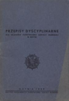 Przepisy dyscyplinarne dla uczniów Państwowej Szkoły Morskiej w Gdyni