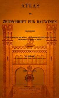 Atlas zur Zeitschrift für Bauwesen, Jg. 16, H. 1-12 (1866)