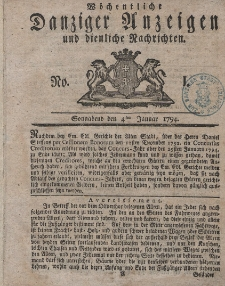 Gemeinnützige Danziger Anzeigen Erfahrungen und Erläuterungen allerley nützlicher Dinge und Seltenheiten 1794