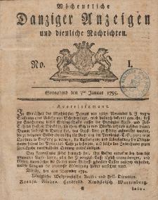 Gemeinnützige Danziger Anzeigen Erfahrungen und Erläuterungen allerley nützlicher Dinge und Seltenheiten 1795