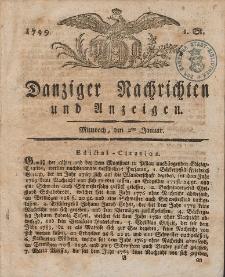 Königlich Preußische Danziger Nachrichten und Anzeigen zum Nutzen und zur Bequemlichkeit des Publikums 1799