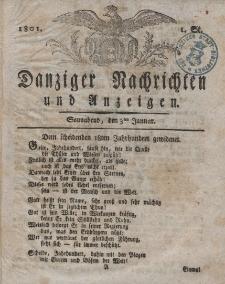 Königlich Preußische Danziger Nachrichten und Anzeigen zum Nutzen und zur Bequemlichkeit des Publikums 1801