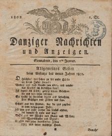 Königlich Preußische Danziger Nachrichten und Anzeigen zum Nutzen und zur Bequemlichkeit des Publikums 1802