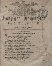 Königlich Preußische Danziger Nachrichten und Anzeigen zum Nutzen und zur Bequemlichkeit des Publikums 1803