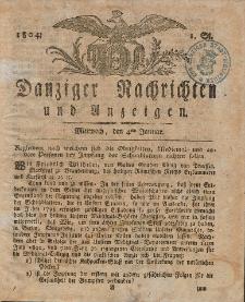 Königlich Preußische Danziger Nachrichten und Anzeigen zum Nutzen und zur Bequemlichkeit des Publikums 1804