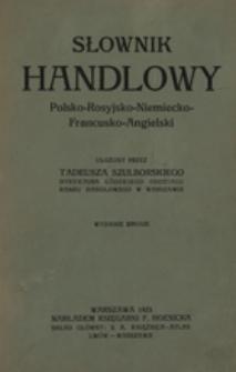 Słownik handlowy polsko-rosyjsko-niemiecko-francusko-angielski /