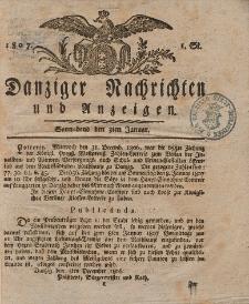 Königlich Preußische Danziger Nachrichten und Anzeigen zum Nutzen und zur Bequemlichkeit des Publikums 1807
