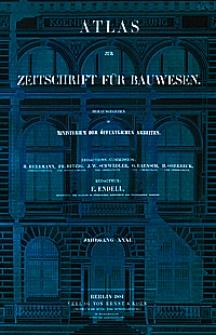 Atlas zur Zeitschrift für Bauwesen, Jg. 31, H. 1-12 (1881)