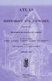 Atlas zur Zeitschrift für Bauwesen, Jg. 42, H. 1-12 (1892)