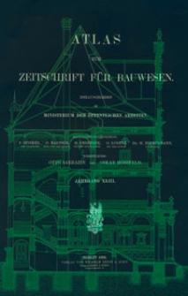 Atlas zur Zeitschrift für Bauwesen, Jg. 43, H. 1-12 (1893)