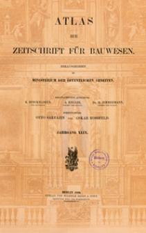Atlas zur Zeitschrift für Bauwesen, Jg. 49, H. 1-12 (1899)