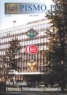 Pismo PG : pismo pracowników i studentów Politechniki Gdańskiej, 2002, R. 10, nr 5 (Maj)