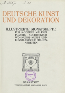 Deutsche Kunst und Dekoration 1913