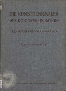 Die Kunstdenkmäler von Oberpfalz & Regensburg. H. 2. Bezirksamt Neunburg v. W.