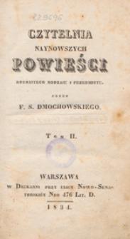 Czytelnia naynowszych powieści rozmaitego rodzaju i przedmiotu. T. 2