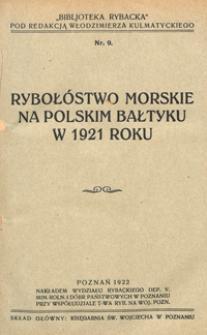 Rybołóstwo morskie na polskim Bałtyku w 1921 roku