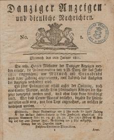 Königlich Preußische Danziger Nachrichten und Anzeigen zum Nutzen und zur Bequemlichkeit des Publikums