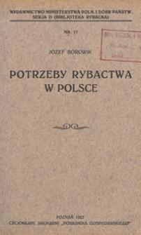 Potrzeby rybactwa w Polsce