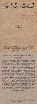 Archiwum Rybactwa Polskiego. T. 1, z. 5 (maj)