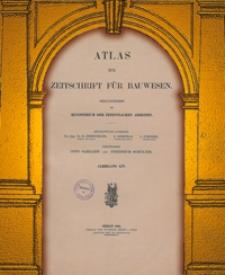 Atlas zur Zeitschrift für Bauwesen, Jg. 54, H. 1-12 (1904)