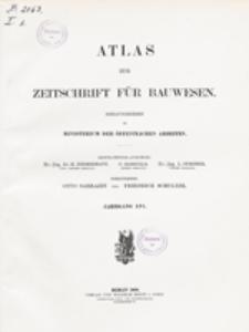 Atlas zur Zeitschrift für Bauwesen, Jg. 56, H. 1-12 (1906)